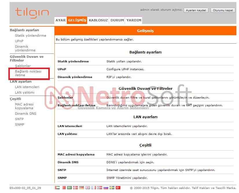 tilgin modem port açma 2. sayfa